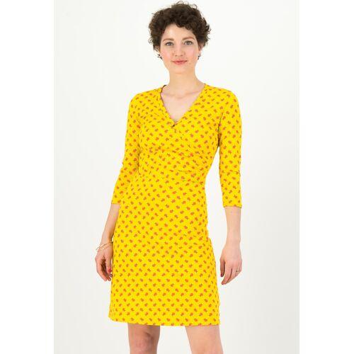 Blutsgeschwister Kleid Pfadfinderehrenwort, 3/4-Arm, V-Ausschnitt gelb