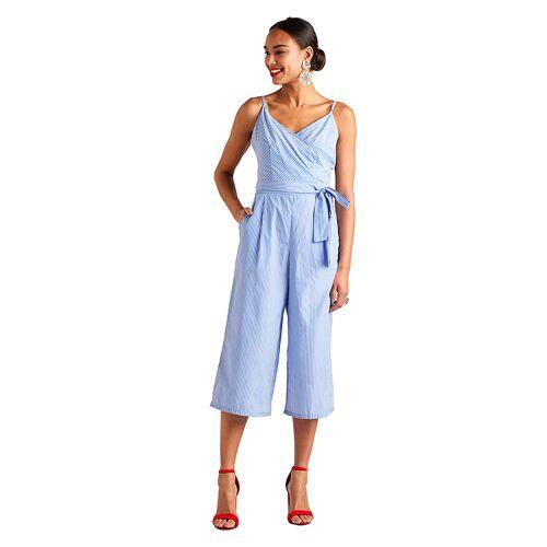 Yumi Jumpsuit, ärmellos, V-Ausschnitt blau