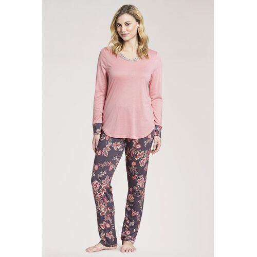 Rösch Pyjama, Langarm, Rundhals rosa