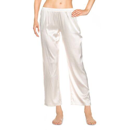 Hanro Pyjama-Hose, lang weiß
