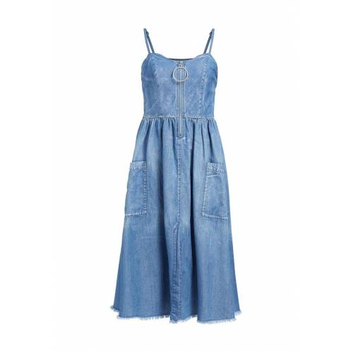 Khujo Kleid Chloet, Herzausschnitt blau