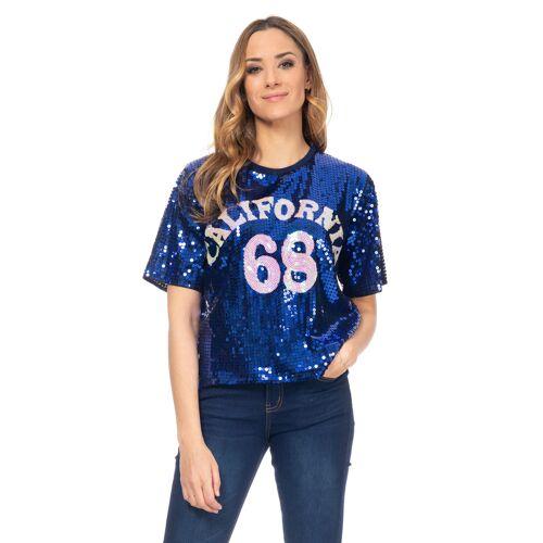 Tantra T-Shirt, Rundhals blau