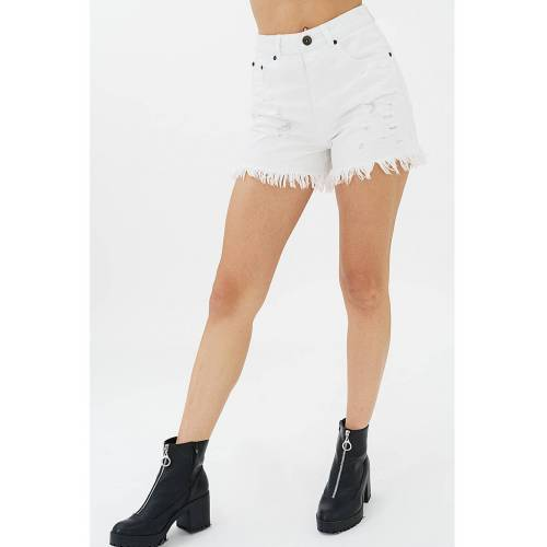 Trueprodigy Shorts Frayed weiß
