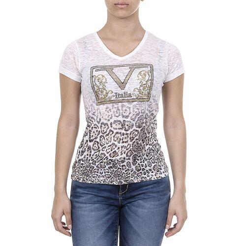 19V69 Italia T-Shirt, V-Ausschnitt, taillierter Schnitt bunt