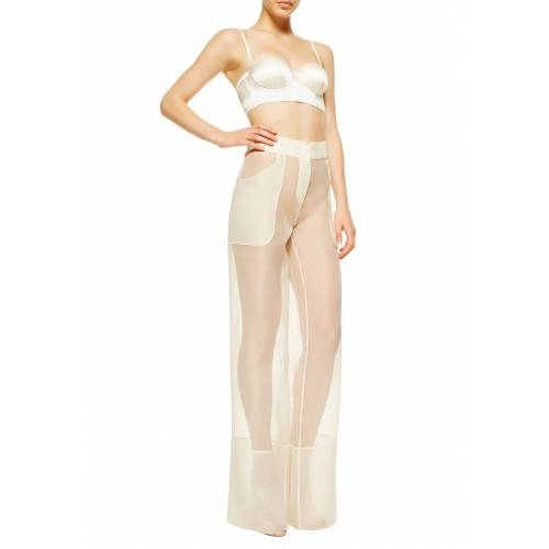 LA Perla Pyjama-Hose, lang, Seide beige