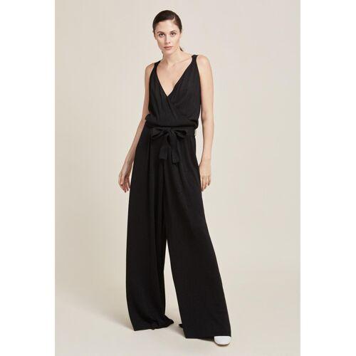 Stefanel Jumpsuit, lang, ärmellos, V-Ausschnitt schwarz