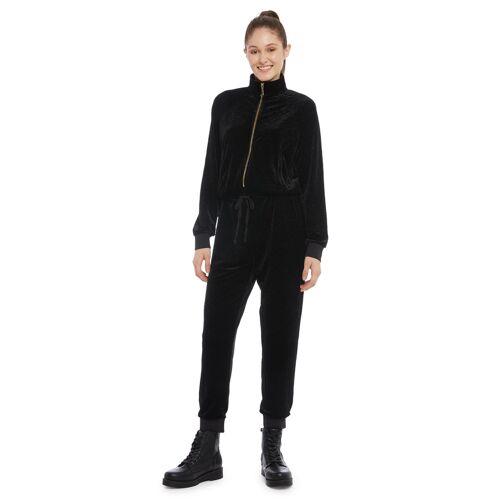 Juicy Couture Jumpsuit, lang, Langarm, Stehkragen blau