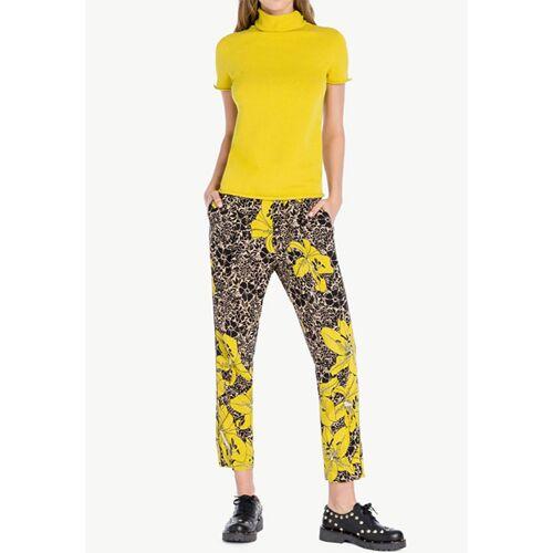 Twin SET Hose, gerader Schnitt gelb