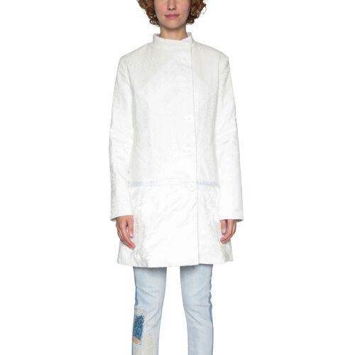 Desigual Mantel, Stehkragen weiß