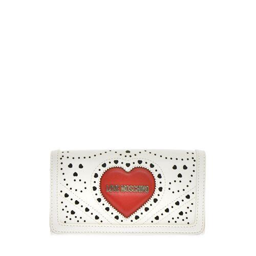 Love Moschino Portemonnaie, B17 x H9,5 x T4 cm weiß