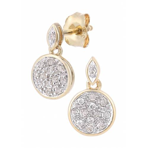 Rinani Ohrstecker, 375 Gelbgold, Diamant