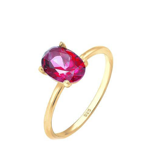 Elli Premium Ring, 925 Sterlingsilber, Topas, vergoldet