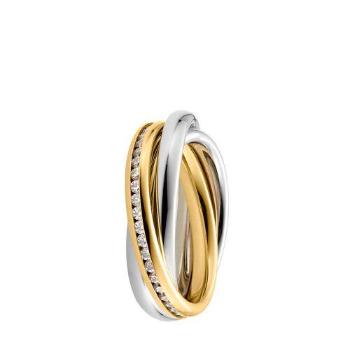 Steel_Art Ring, vergoldet/silbern