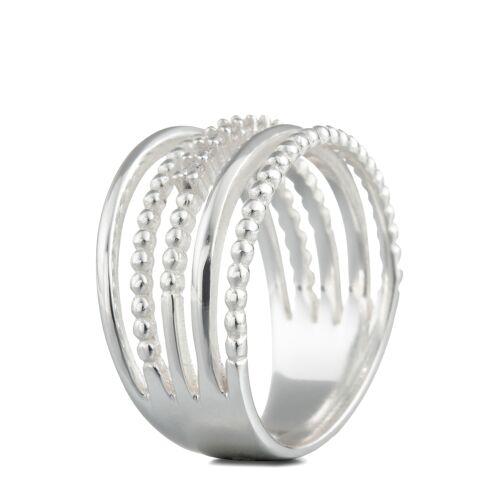 Steel_Art Ring, Edelstahl, silbern, poliert