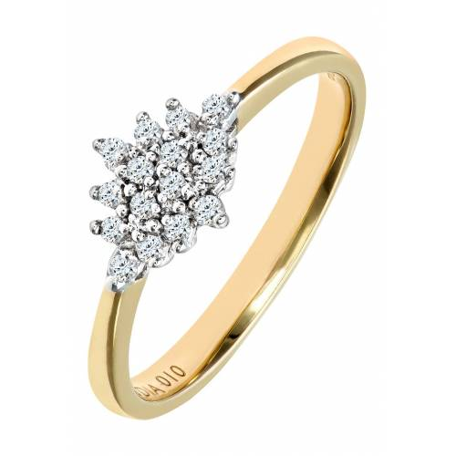Diamant PUR Ring, 375 Gelbgold, Diamant