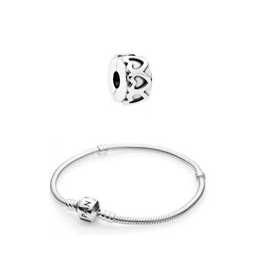 Pandora Armband + Charm, 925 Sterlingsilber