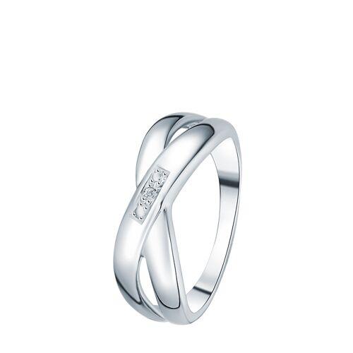 Secret Diamonds Ring, Diamant, 925 Sterlingsilber
