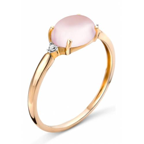 Diamant PUR Ring, 375 Roségold, Diamant