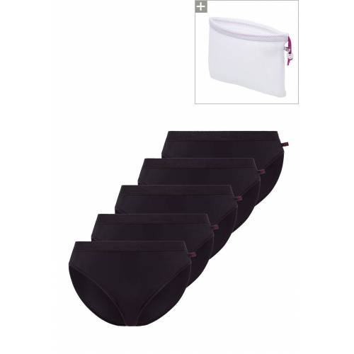 Beedees Slip Microfun Tai, 5er-Pack, schwarz