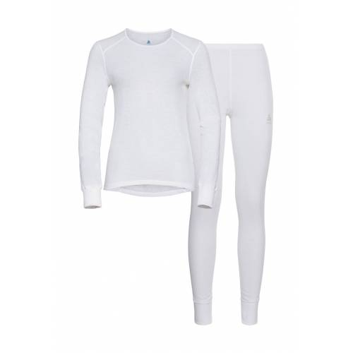 Odlo Funktionsunterwäsche-Set, 2-tlg., lang, white weiß