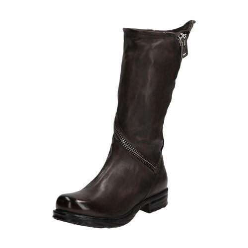 As98 Stiefel Saintec, Leder, Absatz 3 cm grau
