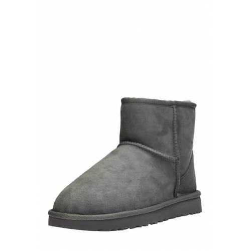UGG Boots Classic Mini, Lammfell, grey grau