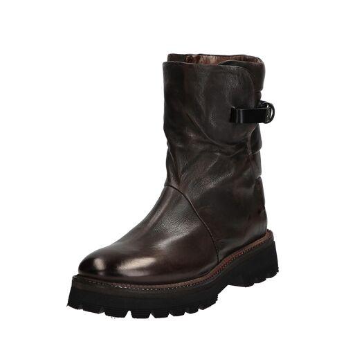 As98 Boots Native, Leder, Absatz 4,5 cm grau