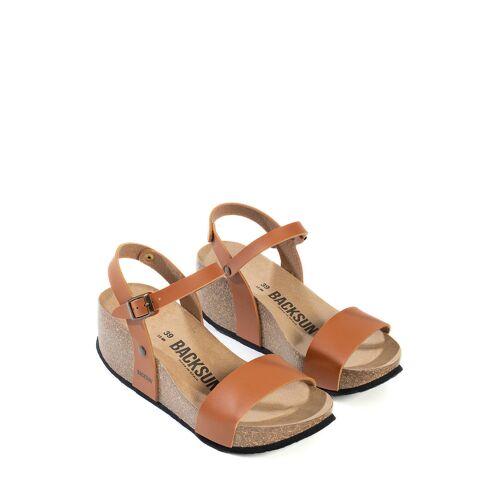 Backsun Keil-Sandaletten Hong Kong, Absatz 7 cm braun