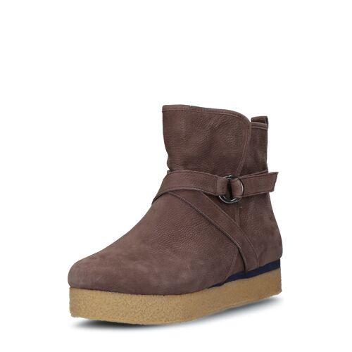Flip*flop Ankle Boots Billy Ring, Leder, Absatz 2,4 cm braun
