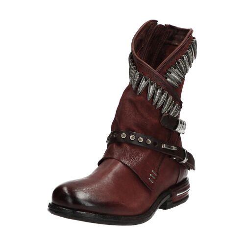 As98 Boots Teal, Leder, Absatz 3 cm braun