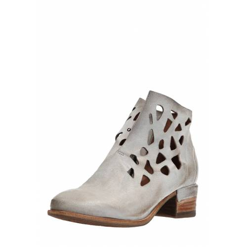 As98 Ankle-Boots Give, Leder, Absatz 4,5 cm grau
