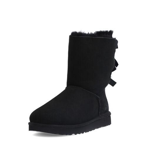 UGG Boots Bailey Bow II, Lammfell, schwarz