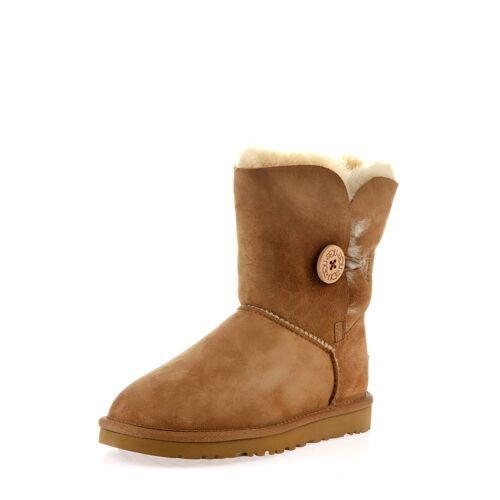 UGG Boots Bailey Button II, Lammfell, braun