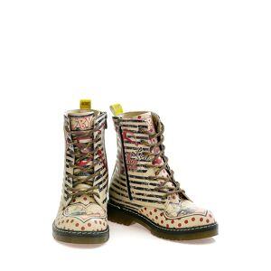 Goby Boots, beige gemustert
