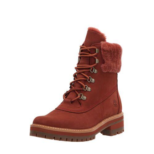 Timberland Boots Courmyeur Shearling, Leder/Lammfell, weit rot