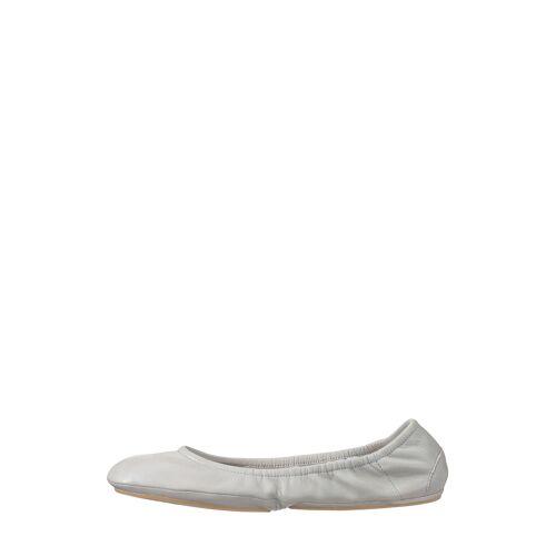 Flip*flop Ballerinas, Leder, faltbar, hellgrau