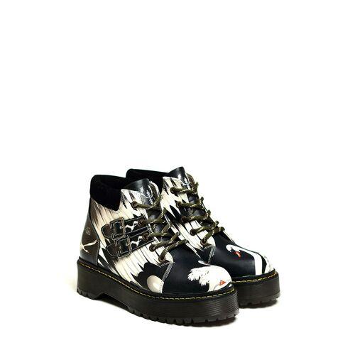 Goby Boots, schwarz/weiß bunt