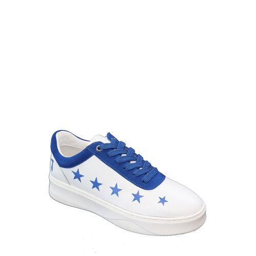 TRU Trussardi Sneaker, weiß/blau bunt