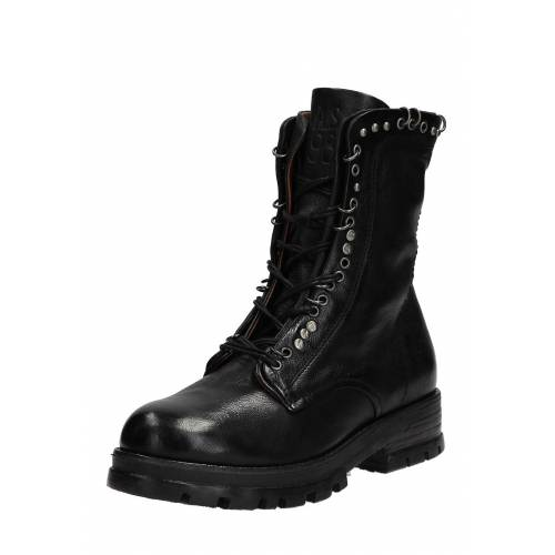 As98 Boots Enter, Leder, Absatz 4 cm schwarz