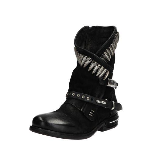 As98 Boots Teal, Leder, Absatz 3 cm schwarz