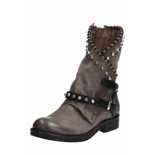 As98 Boots Recycled, Leder, Absatz 3 cm grau