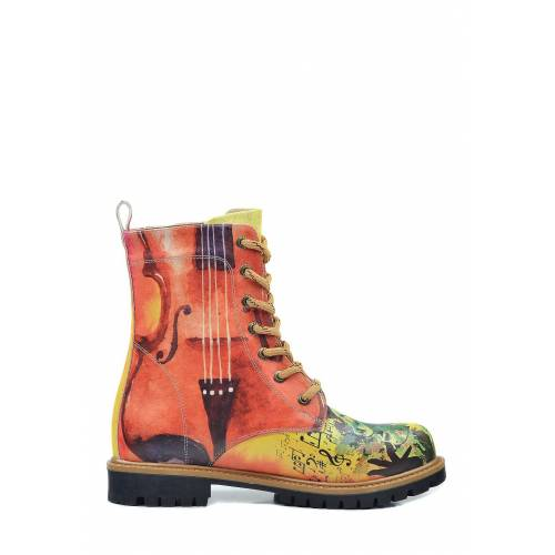 Goby Boots, Absatz 3,5 cm rot