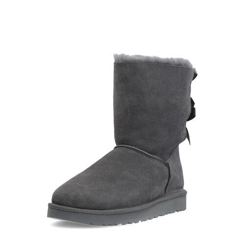 UGG Boots Bailey Bow II, Lammfell, grau