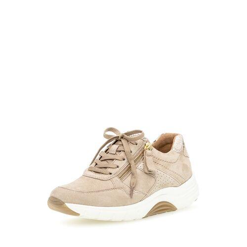 Gabor Sneaker Rollingsoft, Leder beige