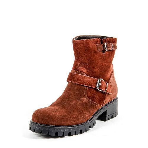 19V69 Italia Boots, Leder, Absatz 4,5 cm, rot