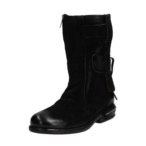 As98 Ankle-Boots Teal, Leder, Absatz 3 cm schwarz