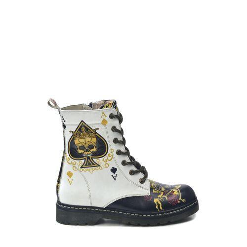 Goby Boots, Absatz 3,5 cm weiß