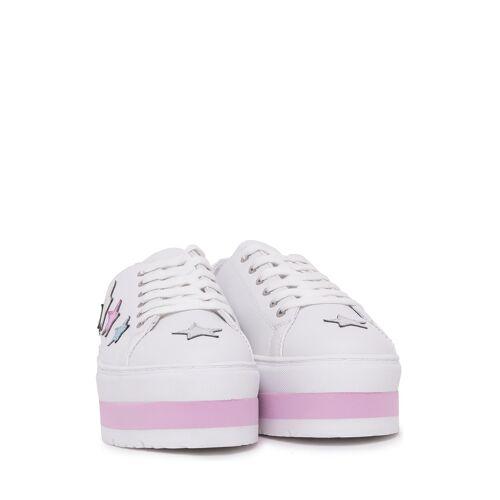 Trussardi Jeans Plateau-Sneaker weiß