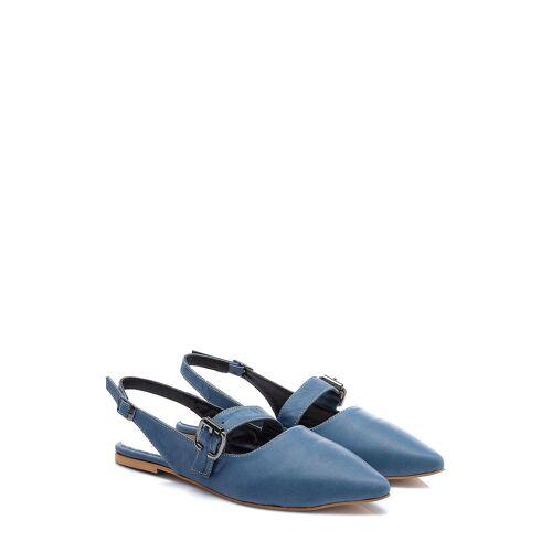 Lizza Slingback-Ballerinas, Leder blau