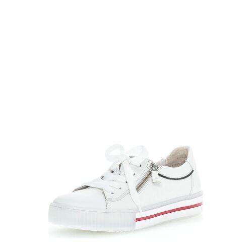 Gabor Sneaker, Leder, Absatz 3,5 cm weiß
